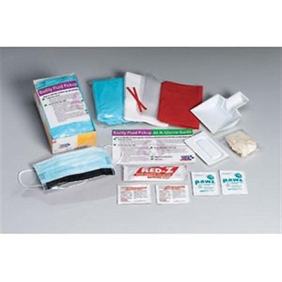 16-Piece First Aid Bodily Fluid Safety Clean-Up Kit & Disposable Tray- 214PF