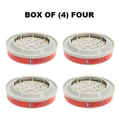 BOX OF (4) FOUR 815369MSA Advantage® Respirator Cartridges Low Profile P100 NEW!
