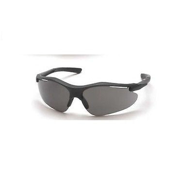 (1 Pair) Pyramex Fortress Safety Glasses, Black with Gray Lens