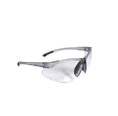 BiFocal C2-125 Clear Shooting Glasses Safety Glasses Reading Glasses +2.50