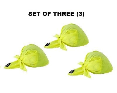 (3) Chill-Its® Cooling Towel Triangle Hats, HI Viz