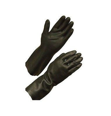 Unsupported neoprene safety gloves  28 mil., flock lined, 12-inch length sz LG