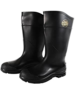 Mens Black Premium Rubber Industrial Work Steel Toe Knee Boots  Size 14 NEW