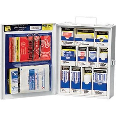 112-piece Med First Aid General Business KIT Cabinet Metal -90578AC