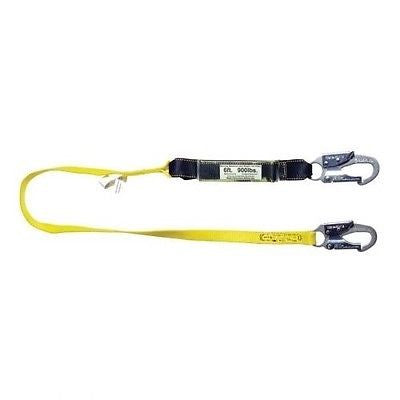 Shock Absorbing Lanyard 6' Single Leg w/ Snap Hook & Rebar Hook Guardian 01221