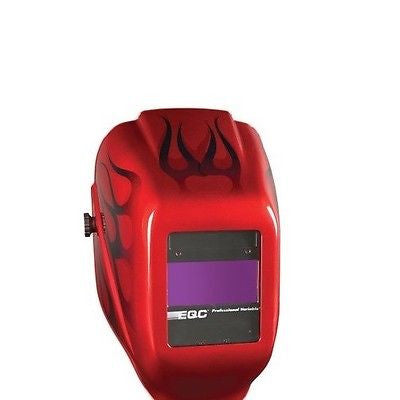 Jackson W40 Professional Variable Auto-Darkening Welding Helmet RED FLAMES NEW!