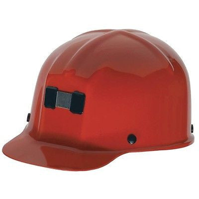MSA RED Comfo-Cap Mining Hard Hat Cap 4-Point Staz-On® Suspension 91590 NEW!