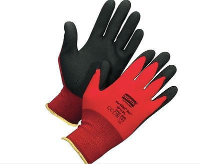 2 PAIR North Honeywell Gardening Safety Work Gloves Red Northflex NF11 9/L NEW