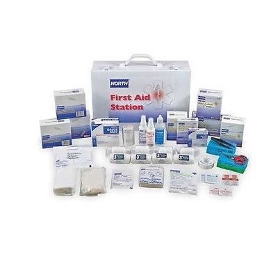 100 PERSON FIRST AID KIT W/ METAL CABINET -019720-0009L