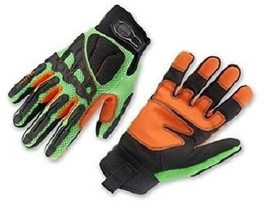 Ergodyne ProFlex® 924LD Light Dorsal Impact-Reducing Safety Gloves M, L, XL NEW!