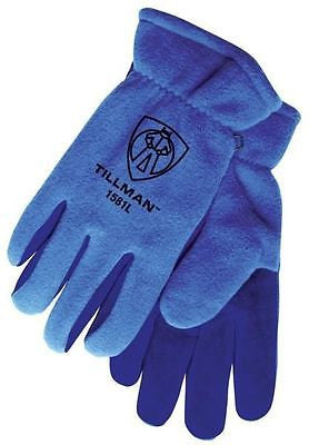 Tillman XLarge 1581 Polar Fleece Cowhide Cold Block Lined Winter Welding Gloves