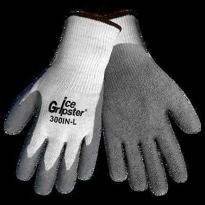 1 PAIR Global Glove 300IN-L Insulated Ice Gripster Rubber-Coated Gloves (Large)