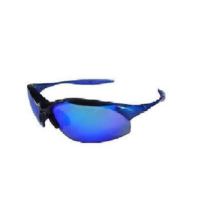 Radians IN2-70 Rad-Infinity Sporty Lightweight Blue Frame Glasses Blue Mirror