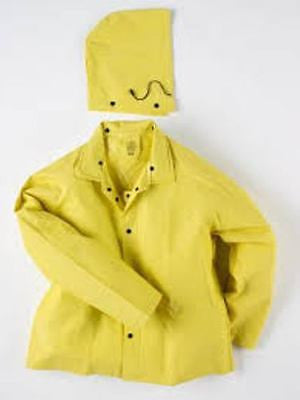 NEESE STYLE NV780 3-PIECE PVC YELLOW RAINSUIT .35mm #10036-55-1 I36JH SZ XL