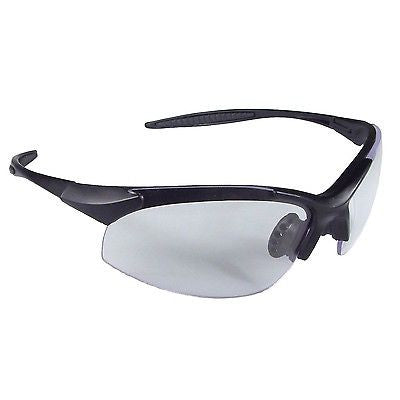 Radians IN1-10 Infinity Sporty Lightweight Black Frame SAFETYGlasses Clear Lens