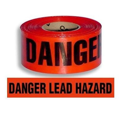 """DANGER LEAD HAZARD"" 1000 ft Barricade Tape 3"""