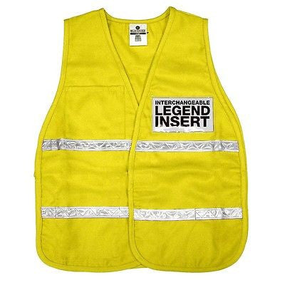 ML Kishigo 3710i 3700 Series Incident Command SAFETY Vest - YELLOW NEW!