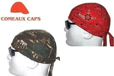 Pack of (2) TWO Painter, Pipe Fitter Welding Welder Biker Cap Hat Doo Rags NEW
