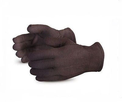 Pair Black Jersey Superior Safety Gloves Unisex Winter Gardening Size Medium/Large