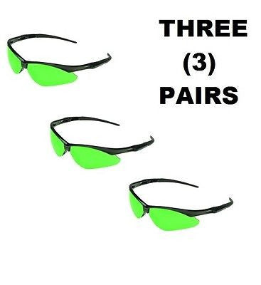 THREE PAIRS Jackson™ V30 Nemesis Safety Glasses BLACK FRAME IRUV 3.0 LENS 25692