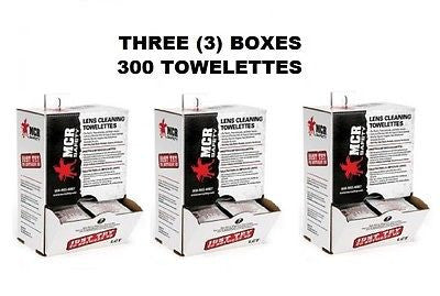 TOTAL 300 Lens Cleaning Wipes MCR Safety Anti-Fog (3) boxes of 100 NEW!