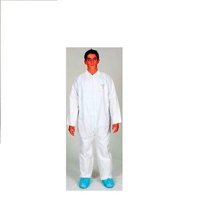 Kostaguard White Disposable Safety Coveralls Zipperfront w/hood NEW! SIZE XL