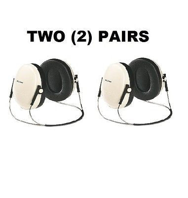TWO (2) PAIRS 3M E·A·R Peltor OPTIME 95 Behind-The-Head Safety Earmuffs - H6BV