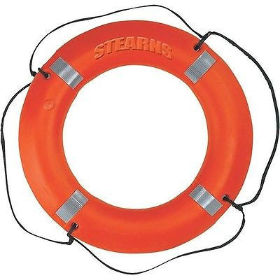 STEARNS I030ORG Ring Boat Pool Buoy, Orange, Polyethylene Life Preserver NEW