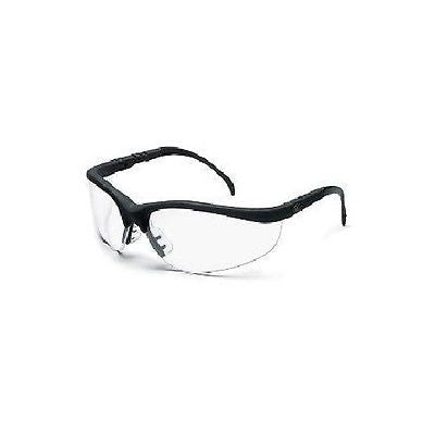 Crews 135-KD110AF Safety Glasses Klondike Black Frame Clear Anti-Fog Lens NEW!