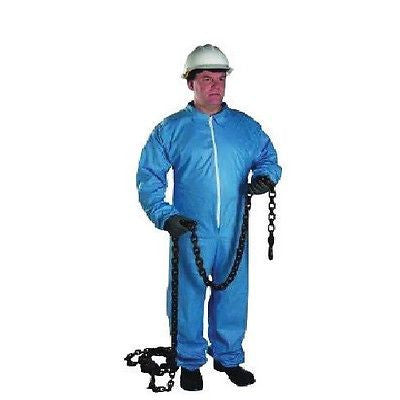 Blue Disposable  Flame Resistant Coveralls Front Zipper Closure 3100-XL NEW!