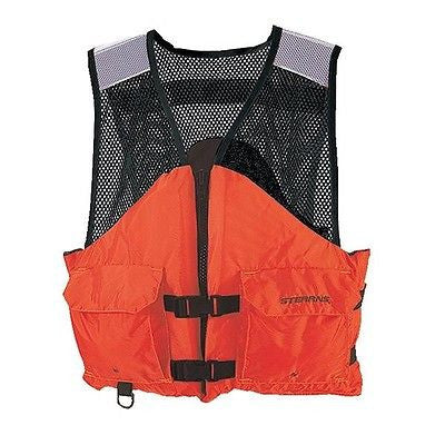 Stearns® Work Zone Gear™ Floatation Water Life Vests I424ORG M,L,XL,XXL,XXXL NEW