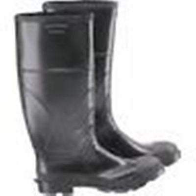 Mens Black Premium Rubber Industrial Work Steel Toe Knee Boots  Size 7 NEW