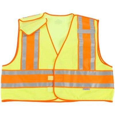 ERGODYNE GLOWEAR 8245PSV HI-VIS REFLECTIVE SAFETY VEST Size 4XL/5XL NEW in BAG!