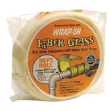"PACK OF (3) THREE 35 FOOT ROLLS Wrap-On Pipe Insulation 1/2""X3""X35' FIBER GLASS"