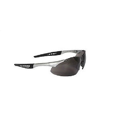 RADIANS Rock Safety Glasses Silver Frame Smoke Lens Sunglasses NEW!