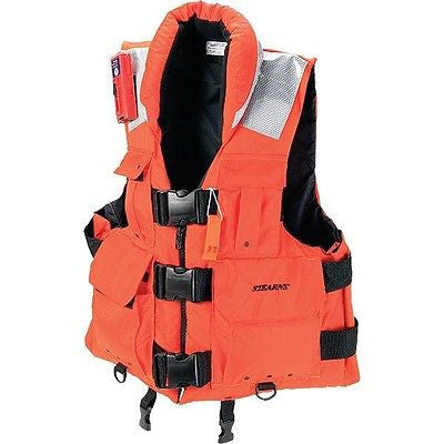 Stearns® SAR 4185 Work Master Life Vest ORANGE Coast Guard Approved NEW!