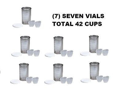 (7) SEVEN VIALS TOTAL 42 EYE CUPS FIRST AID ONLY - M795F