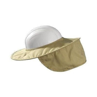 Hard Hat Sun Shade Stow Away Style Cotton KHAKI One Size NEW LOW PRICE! 899KHK