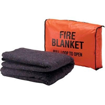"Wool Fire Blanket Blanket 56"" x 80"" WITH Bag SET-650200BR"