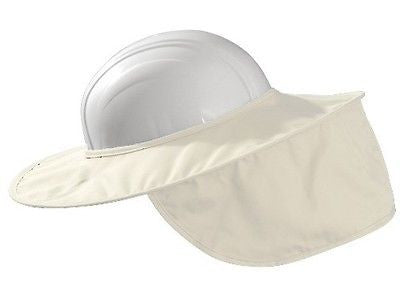 Hard Hat Sun Shade Stow Away Style Cotton WHITE One Size NEW LOW PRICE!