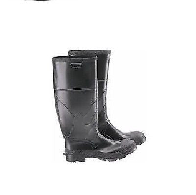Mens Black Premium Rubber Industrial Work Steel Toe Knee Boots  Size 9 NEW