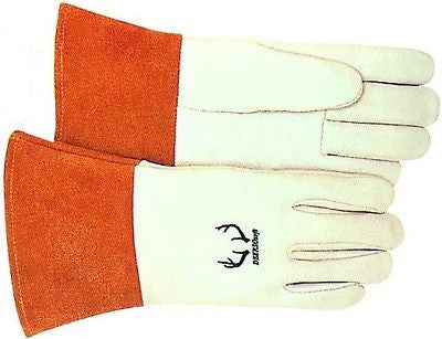 Weldas TIG SoftTouch Deerskin welding gloves SIZE LARGE (ONE PAIR) NICE NEW!