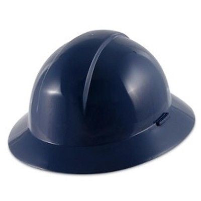 North Everest A49R Wide Full Brim NAVY Hard Hat 4 point pinlock suspension-NEW