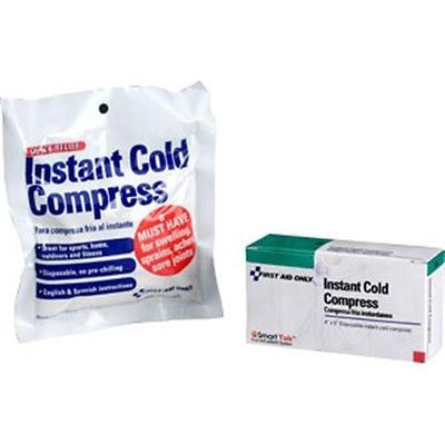ONE DOZEN (12) INSTANT DISPOSABLE ICE PACKS COLD COMPRESS 4X5 GR8 for SUN RELIEF -B503F