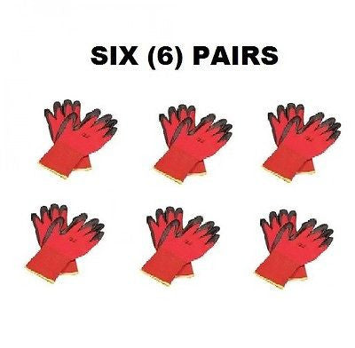(6 Pairs) North® NorthFlex Red™ Foamed PVC Palm Coated Gloves (L)