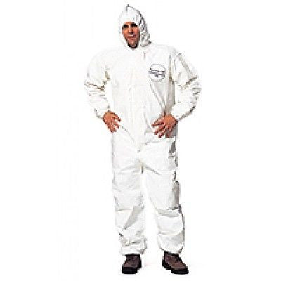(Case of 12) Dupont Tychem Coveralls with Hood, Elastic Wrists, Ankles