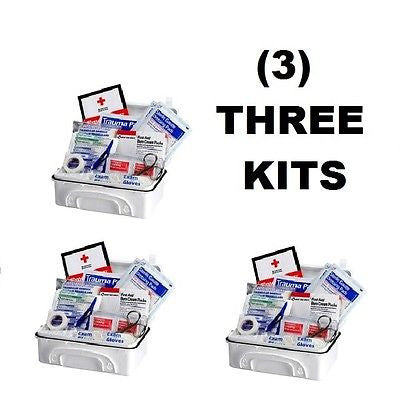 (3) Contractor First Aid Kits (10 Person 96-Piece per kit)