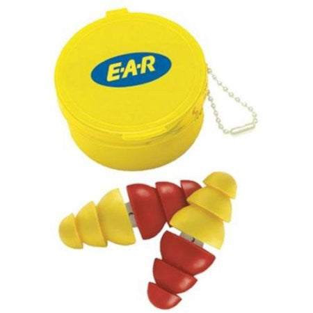 (10 Pairs) 3M Arc Plug Dual End Uncorded Earplugs With Carrying Case