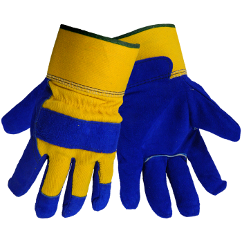 (Dozen) Split Leather, Canvas Back, Heavy Pile Lined Gloves