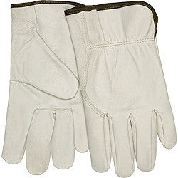 (12 Pairs) Leather Cowhide Safety Glove
